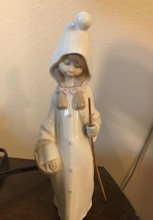 Lardons Porcelain figurine. Shepherd girl with basket. for Sale in Portland, OR