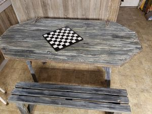 Rustic kitchen/dining room table with bench seating for Sale in Wellington, KS