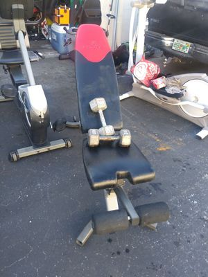 Bowflex incline bench w/20lb dumbells for Sale in Tampa, FL