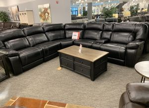 $1995 black power reclining sectional $54 down delivers! 🚚🚚 for Sale in Tukwila, WA