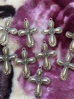 """Silver crosses for jewelry making 2.9"""" long for Sale in Sterling Heights,  MI"""