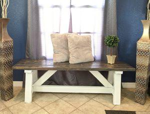 Farmhouse Style Bench Custom Made for Sale in Seminole, FL