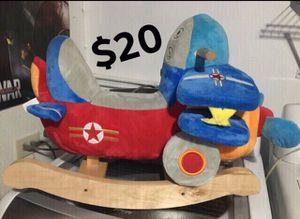 SUPER CUTE BABY TODDLER AIRPLANE ROCKER ROCKING CHAIR for Sale in San Antonio, TX