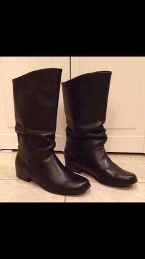 Black leather boots, brand new for Sale in Odenton, MD