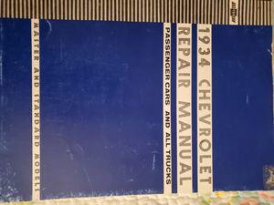 1934 Original Factory Service Manual for Sale in Johnson City, TN