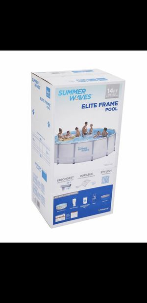 Summer waves 14ft élite frame pool with filter Pump cover and ladder for Sale in Miami, FL