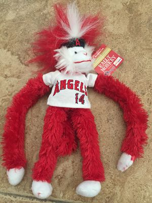 New Angels rally Velcro sock monkey stuffed animal toy collectors for Sale in Upland, CA