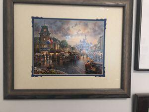 Thomas Kinkade downtown Disney 60th Anniversary print framed for Sale in Lake Oswego, OR
