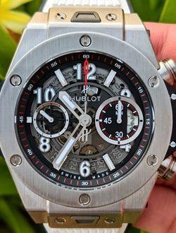 Hublot Big Bang Unico Titanium Auto Men's Watch 411.NX.1170.RX White Rubber Band for Sale in Frisco,  TX
