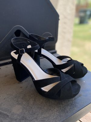 Black Suede Heels (7.5) for Sale in Imperial, CA