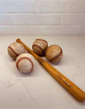 Mini Baseball Bat and 4 Balls for Sale in Phoenix, AZ