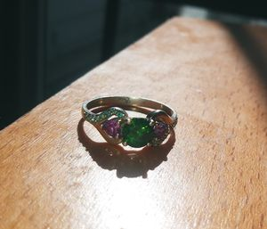 Silver Ring With Emerald and Pink Amethyst for Sale in Westminster, CO
