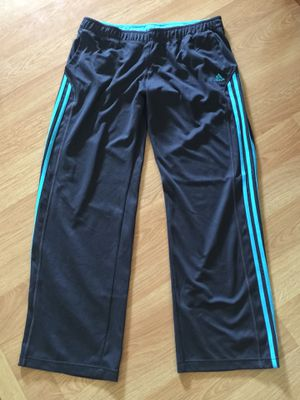 Women's LARGE ADIDAS gray athletic jogging pants for Sale in Irwin, PA