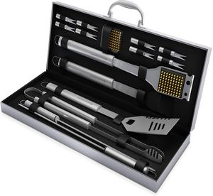 Home-Complete BBQ Grill Tool Set 16 Piece Stainless Steel Barbecue Grilling Accessories for Sale in Los Angeles, CA