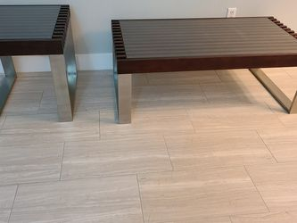 COFFEE TABLE & END TABLE. THe table legs are made of stainless steel. for Sale in Orlando,  FL
