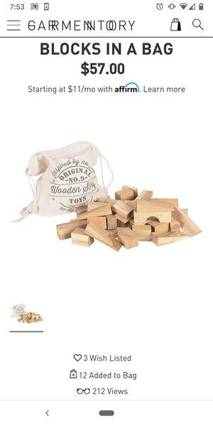 100 pcs sack of wooden blocks building toys for kids for Sale in Norwalk, CA