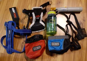 Dog Accessories Car Harnesses, Muzzles, Bowls, Pedi Paws $5 to $15 Each for Sale in Chandler, AZ