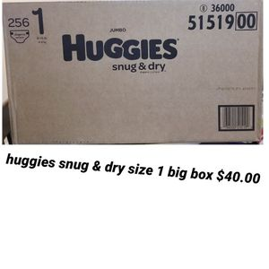 Huggies Size 1 Big box for Sale in Los Angeles, CA