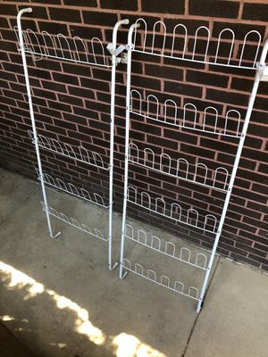 2 over the door shoe racks, 1 holds 36 shoes & one 24 shoes! for Sale in New Castle, PA