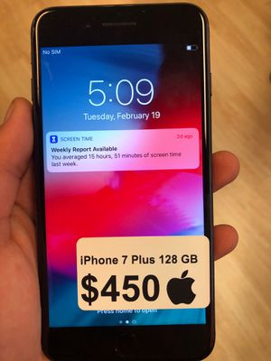 iPhone 7 Plus Unlocked 128 GB $450$ Pickup only for Sale in Arlington, VA