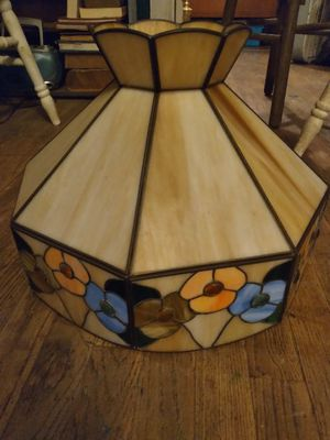 Vintage 1960s stained pendant lamp for Sale in East St. Louis, IL