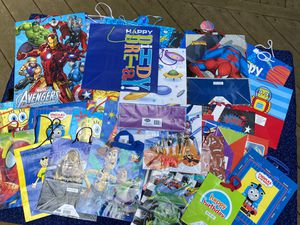35 Gift bags various sizes for kids, very good condition for Sale in Silver Spring, PA