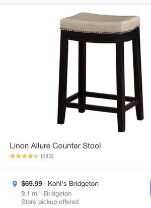 Lining Allure Counter Stool/Bar Stool for Sale in Florissant, MO