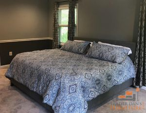 Brand New King Size Grey Linen Upholstered Platform Bed Frame ONLY for Sale in Arlington, VA