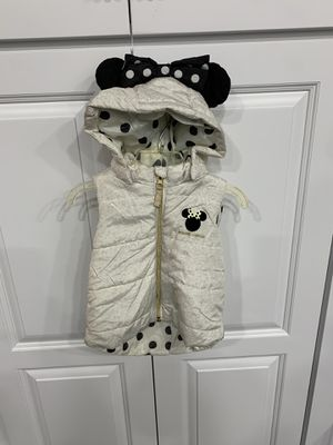 H&M Kids Minnie Mouse Puffy Vest with Ears Size 9-12M for Sale in Tacoma, WA