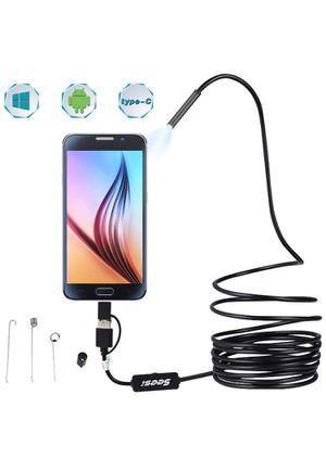 Seesi USB Endoscope 3 in 1 Borescope 5.5mm Ultra Thin Waterproof Inspection Snake Camera Micro USB and Type C for OTG Android, PC, Notebooks Windows for Sale in Rancho Cucamonga, CA