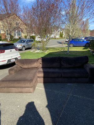 Microfiber Couch- FREE for Sale in Sumner, WA