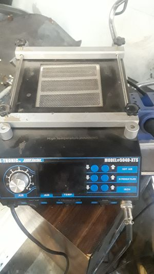 X-tronic 5000 series soldering iron ,pre- heat plate , and hot air tube shriner. Model # 5040-xts for Sale in Addison, IL
