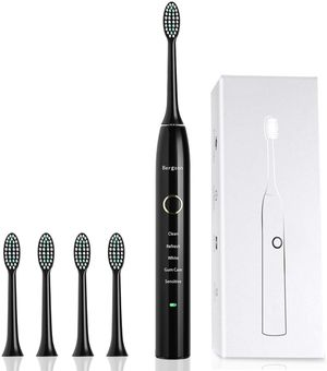 Sonic Electric Toothbrush Pro-Health Precision Clean as Dentist Rechargeable Waterproof with 5 Brushing Modes 4 Replacement Heads for Superior Plaque for Sale in Bellevue, WA