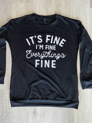 It's fine, I'm fine, everything is fine long sleeve shirt with pockets for Sale in Moyock, NC