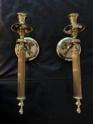 Home Interiors brass wall and table candle holders. for Sale in Chino Hills, CA