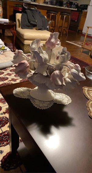 Porcelain flower basket for Sale in Mountlake Terrace, WA