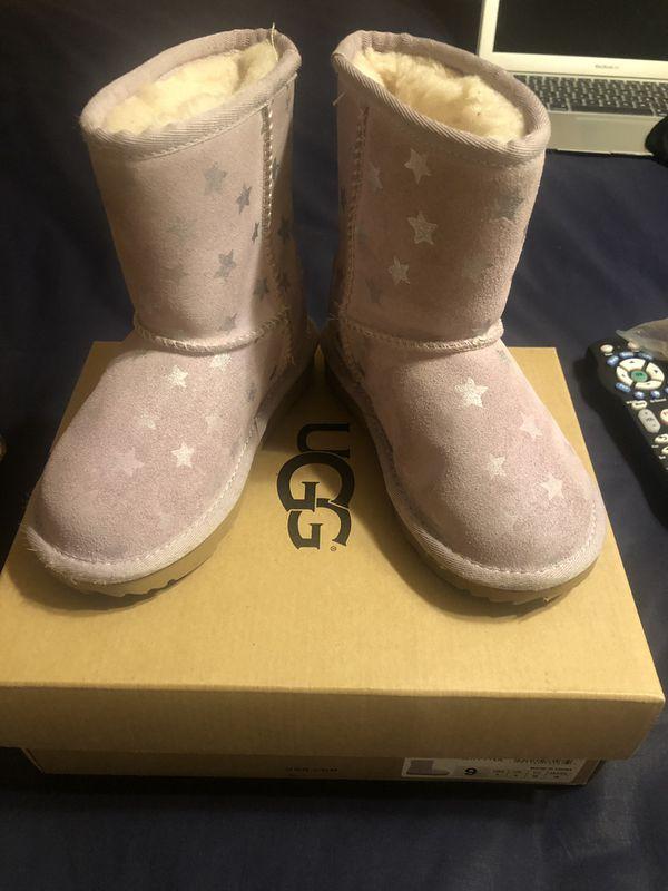 Pink Stars (kids) Toddler Ugg Boot size 9