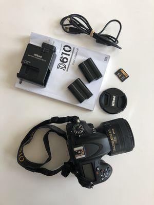 Nikon D610, Nikkor 85mm 1.8 lens, Qipi camera bag, ExpoDisc 2.0 for Sale in Apex, NC