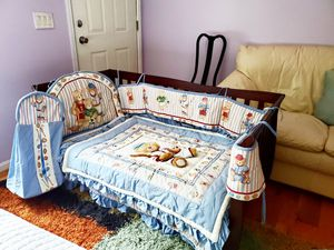 Todler bed with mattress, rug, lamp and stuff for Sale in Knoxville, TN