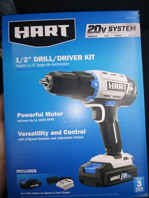 Hart 1/2 drill/driver kit for Sale in Chicago, IL