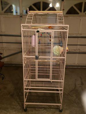 Bird cage with perch top $120 for Sale in Manassas, VA