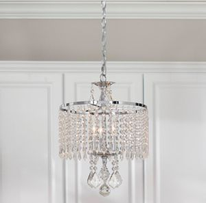 Home Decorators Collection Calisitti 3-Light Polished Chrome Mini-Chandelier with K9 Hanging Crystals for Sale in Jupiter, FL