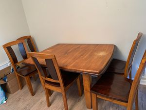 Kitchen table , chairs and leaf for Sale in Barnegat Township, NJ