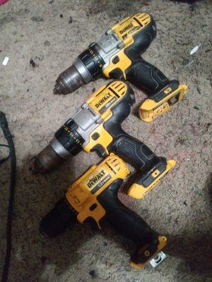 Dewalt hammer drills and 12 volt for Sale in Odessa, TX
