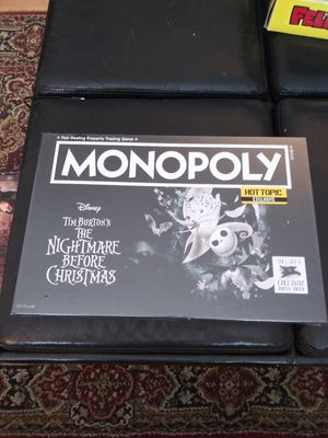 Monopoly: Nightmare Before Christmas board game for Sale in Gaithersburg, MD