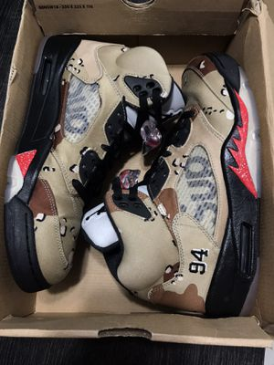 Jordan Supreme Camo 5s for Sale in Hialeah, FL