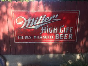 Vintage Original 1930s Miller High Life Beer Sign 6ft for Sale in Monrovia, CA