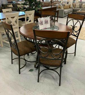 🏷Best OFFER. Glambrey Brown 5-Piece Round Dining Set for Sale in Jessup, MD