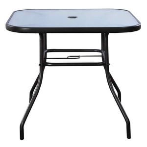 Black Square Steel Bar Dining Table Outdoor Patio Table for Sale in El Monte, CA