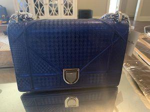 Christian Dior blue metallic Diorama purse. Never used for Sale in Baton Rouge, LA